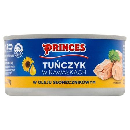 PRINCES Tuńczyk w kawałkach w oleju słonecznikowym (2)