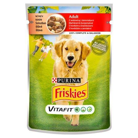 FRISKIES Vitafit Adult z wołowiną i ziemniakami w sosie Pełnoporcjowa karma dla dorosłych psów (1)