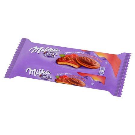 MILKA Choco Jaffa Biszkopty z galaretką o smaku malinowym oblane czekoladą mleczną (1)