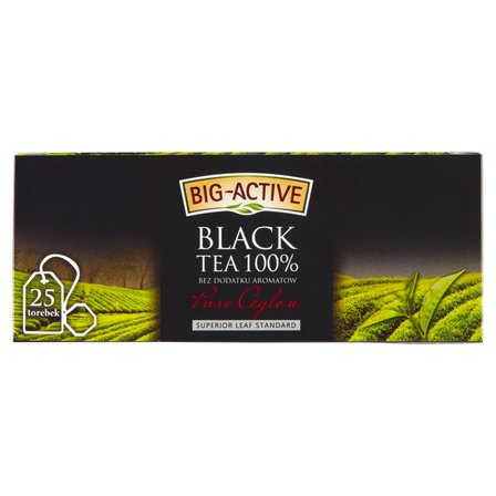 BIG-ACTIVE Pure Ceylon Herbata czarna 100% (25 tb.) (2)