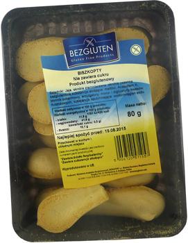 BEZGLUTEN Biszkopty bez cukru 85g (1)