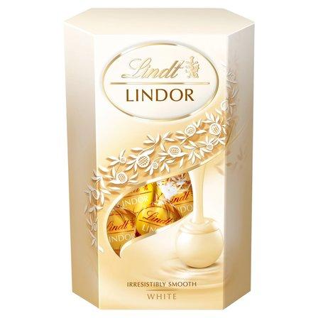 LINDT Lindor Pralinki z białej czekolady z nadzieniem (1)