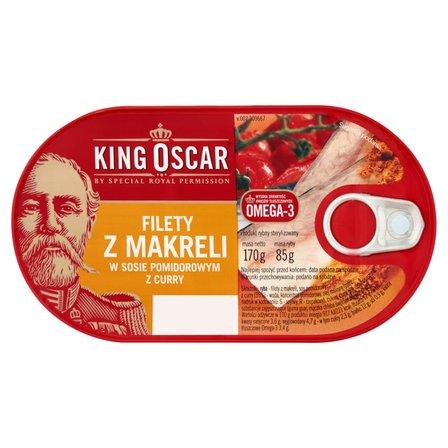 KING OSCAR Filety z makreli w sosie pomidorowym z curry (2)