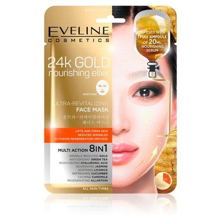 EVELINE Intensywnie rewitalizująca maska ze złotem na tkaninie (1)