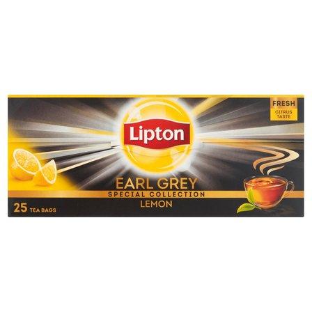 LIPTON Earl Grey Lemon Herbata czarna (25 tb.) (2)