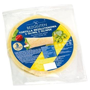 Bezgluten Tortilla bezglutenowa z oliwą z oliwek 180 g (3 x 60 g) (1)