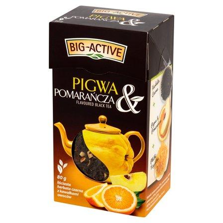 BIG-ACTIVE Pigwa & Pomarańcza Liściasta herbata czarna z kawałkami owoców (1)