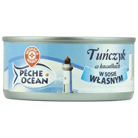 WIODĄCA MARKA Tuńczyk w kawałkach w sosie własnym (1)
