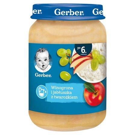GERBER Winogrona i jabłuszka z twarożkiem dla niemowląt po 6. m-cu (1)