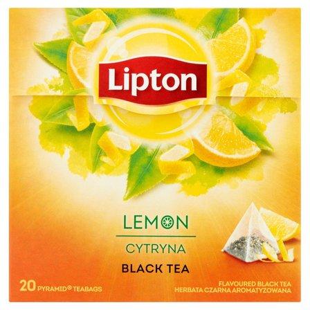 LIPTON Herbata czarna aromatyzowana cytryna (20 tb.) (2)