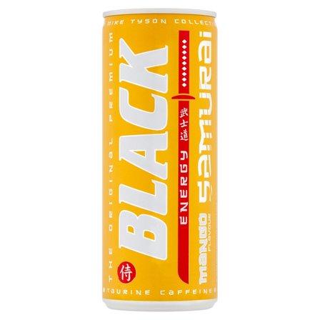 BLACK Energy Samurai Gazowany napój energetyzujący o smaku mango (2)