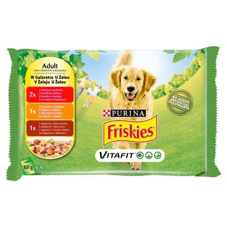 FRISKIES Vitafit Adult w galaretce Karma dla dorosłych psów (4 x 100 g) (1)