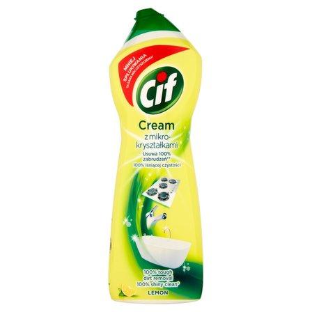 CIF Cream Lemon z mikrogranulkami Mleczko do czyszczenia powierzchni (1)