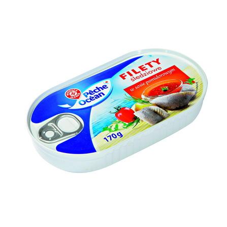 WIODĄCA MARKA Filety śledziowe w sosie pomidorowym (1)