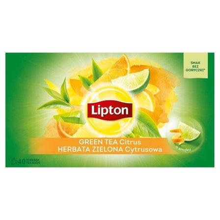 LIPTON Herbata zielona cytrusowa (40 tb.) (2)