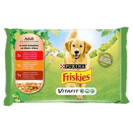 FRISKIES Vitafit Adult w sosie Karma dla dorosłych psów (4 x 100 g) (1)