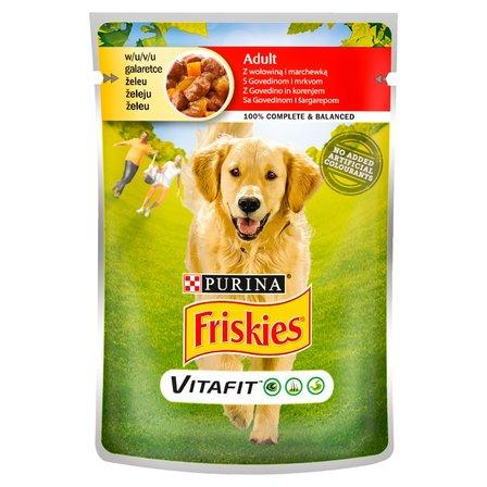 FRISKIES Vitafit Adult Karma dla psów z wołowiną i marchewką w galaretce (1)