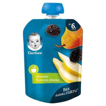 GERBER Deserek gruszka suszona śliwka dla niemowląt po 6. m-cu (1)