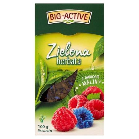 BIG-ACTIVE Herbata zielona z owocem maliny (2)