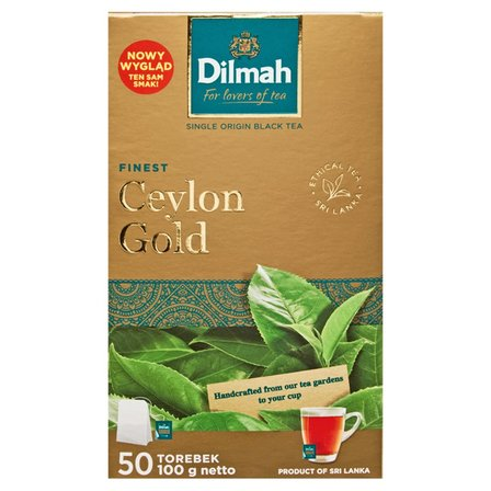DILMAH Ceylon Gold Herbata czarna klasyczna (50 tb.) (1)