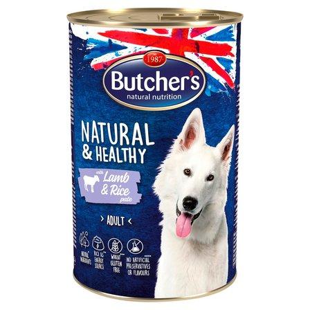 BUTCHER'S Natural & Healthy Karma dla dorosłych psów pasztet z jagnięciną i ryżem (1)