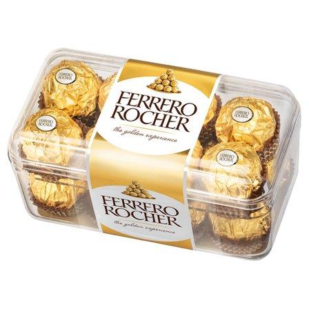FERRERO Rocher Chrupiący smakołyk z kremowym nadzieniem i orzechem laskowym w czekoladzie (1)