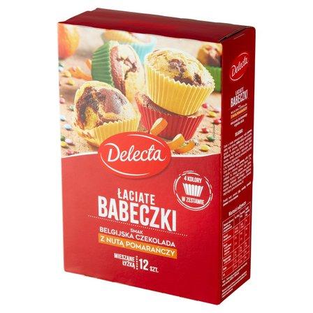 DELECTA Łaciate babeczki smak belgijska czekolada z nutą pomarańczy (1)