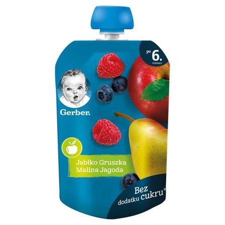 GERBER Deserek jabłko gruszka malina jagoda dla niemowląt po 6. m-cu (1)