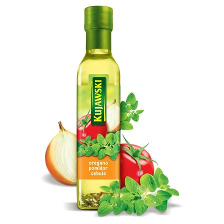 KUJAWSKI Olej rzepakowy z pierwszego tłoczenia z oregano pomidorami i cebulą (1)