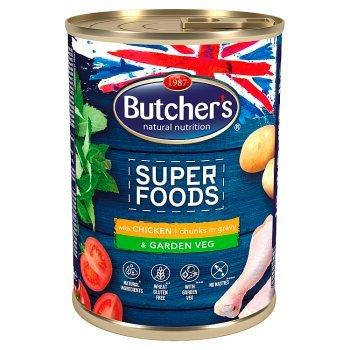 Butcher's Super Foods Karma dla dorosłych psów kawałki w sosie z kurczakiem i warzywami 400 g (1)
