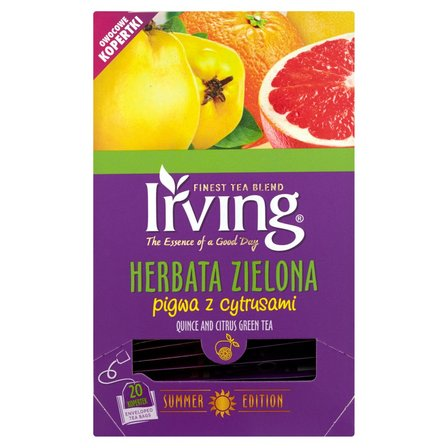 IRVING Herbata zielona pigwa z cytrusami (20 tb.) (2)