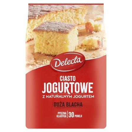 DELECTA Duża Blacha Ciasto jogurtowe z naturalnym jogurtem mieszanka do wypieku ciasta (1)
