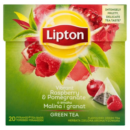 LIPTON o smaku Malina i granat Herbata zielona aromatyzowana (20 tb.) (2)