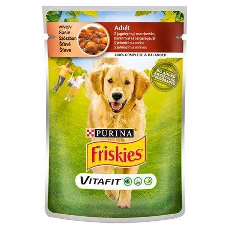 FRISKIES Vitafit Adult z jagnięciną i marchewką w sosie Karma dla dorosłych psów (1)