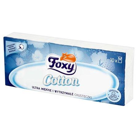 FOXY Cotton Ultra miękkie i wytrzymałe chusteczki (10 x 9 szt.) (1)