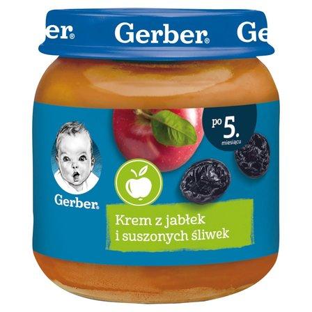 GERBER Krem z jabłek i suszonych śliwek dla niemowląt po 5. m-cu (1)