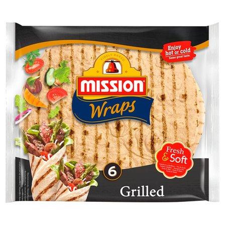 MISSION Wraps Tortilla pszenna grillowana (6 szt.) (1)