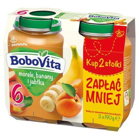 BOBOVITA Morele banany i jabłka po 6. m-cu (2 x 190 g) (1)