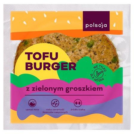 POLSOJA Tofu burger z zielonym groszkiem (1)