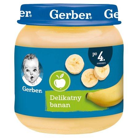 GERBER Delikatny banan dla niemowląt po 4. m-cu (1)