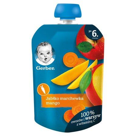 GERBER Deserek jabłko marchewka mango dla niemowląt po 6. m-cu (1)