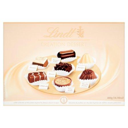 LINDT Creation Dessert Pralinki z czekolady ciemnej mlecznej i białej (2)