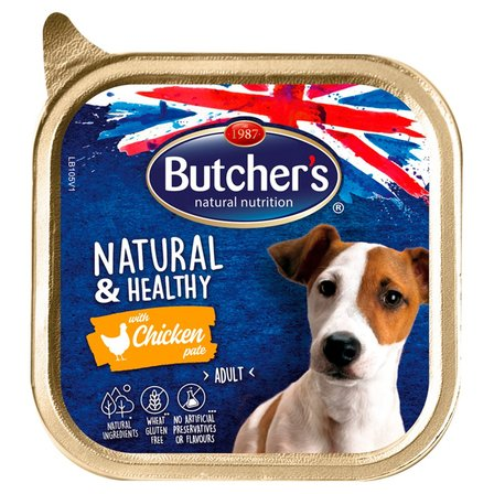 BUTCHER'S Natural & Healthy Karma dla dorosłych psów pasztet z kurczakiem (1)