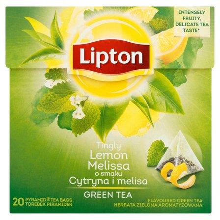 LIPTON o smaku Cytryna i melisa Herbata zielona aromatyzowana (20 tb.) (2)