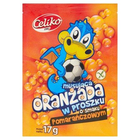 CELIKO Oranżada musująca w proszku o smaku pomarańczowym bezglutenowa (1)