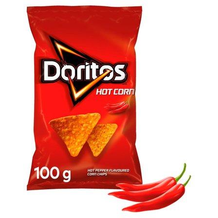 DORITOS Hot Corn Chipsy kukurydziane o smaku ostrej papryki (1)