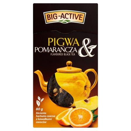 BIG-ACTIVE Pigwa & Pomarańcza Liściasta herbata czarna z kawałkami owoców (2)