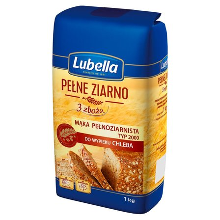 LUBELLA Pełne ziarno 3 zboża Mąka pełnoziarnista do wypieku chleba (1)