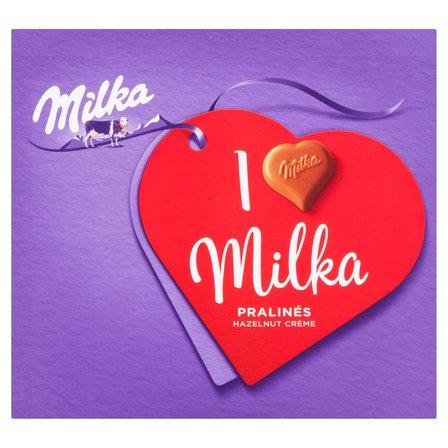 MILKA Czekoladki mleczne z mleka alpejskiego z nadzieniem migdałowym I Love Milka (3)