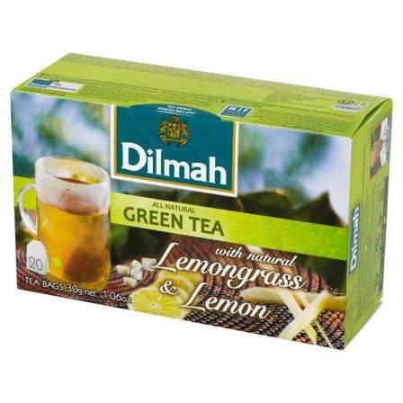 DILMAH Zielona herbata z trawą cytrynową i naturalnym aromatem cytryny (20 tb.) (1)